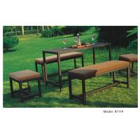 Wholesale 5pcs wicker rattan patio furniture garden benches ottoman table-8111 from china suppliers