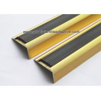 Wholesale NLP20 Matt Gold Aluminum Anti Slip Stair Nose Brace With 41mm x 20mm x 2.7m from china suppliers