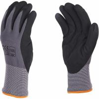 China 15G Nylon Spandex Sandy Nitrile Coated Work Gloves For Excellent Grip Customized Color for sale