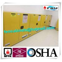 Fireproof Flammable Safety Cabinets Three Points Linked Lock For Dangerous Goods