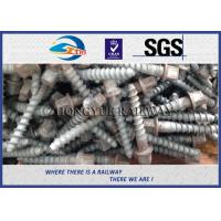 Stainless Steel Rail Screw Spike 5.6 Grade For Railway Fasteners for sale