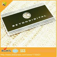 Wholesale 0.3mm thickness high quality customized wholesale photo chemical etching business cards metal from china suppliers