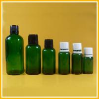 30ml Green Glass Essential Oil Bottles / Glass Bottle With Dropper , Screw Cap
