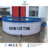 flexible PVC wire mesh tank pvc tarpaulin fish tank for fish farm for sale