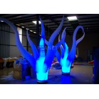 Wholesale Color Changing Inflatable Tree Durable 210 D Oxford Cloth For Event Decoration from china suppliers