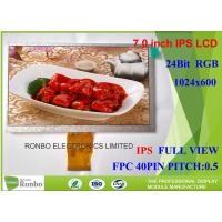 China Resolution 1024 x 600 IPS LCD Module , 7.0 Inch Tablet LCD Display 50 Pin RGB Interface for sale
