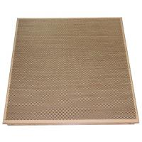Wholesale Fireproof Clip In Ceiling Wooden Color Dia 1.8 mm Perforation 600mm x 600 mm from china suppliers