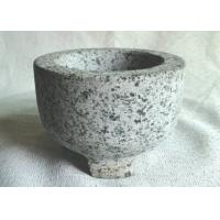 Wholesale Custom Shape Granite Stone Bowl Outside Honed Finish Non Toxic With 3 Legs from china suppliers