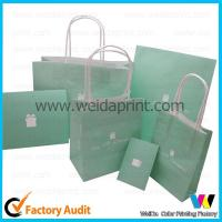 Custom Made 200gsm Kraft Carrier Paper Bags Printed for Cosmetics / Garment for sale