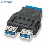 Wholesale USB 3.0 20pin to dual femal Adapter from china suppliers