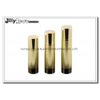 Wholesale Height 161mm Airless Pump Bottles gold head cap bottle body cylinder foundation pump bottle from china suppliers