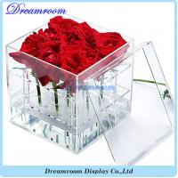 Wholesale Hot Sale Popular Style Clear Acrylic Luxury Flower Box from china suppliers