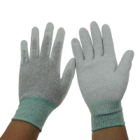 Wholesale Grey 13G 280D Nylon PU Coated Palm Fit ESD Gloves from china suppliers