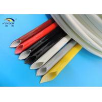 Colorful Silicone Rubber Fiberglass Sleeving / Braided Fiber Glass insulation Sleeve