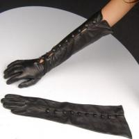 Buy cheap long style fashion lady leather gloves for lady from wholesalers