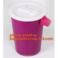Wholesale PP plastic type and stocked eco-friendly feature Round pet food container with scoop, Pet Dog Food Storage Container Wit from china suppliers