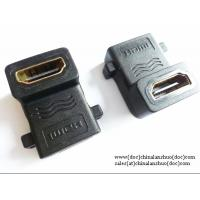 China Right Angled HDMI Female to Female, 90 Degrees, F-F Coupler Adaptor Extender on sale