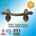 Best Ref No H003 zamak Metal Coffin Handles size 22.5*10.5 Shell shape color antique bronze wholesale