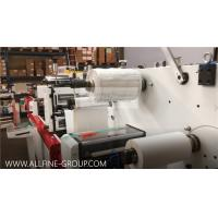 Adhesive Paper Label Die Cutting Machine One / Two Head Flat To Flat High Speed for sale