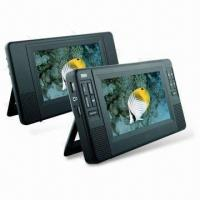 Wholesale 2 x 7-inch Twin Portable DVD Player with 1W x 2 Built-in Stereo Speaker from china suppliers