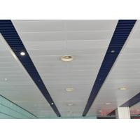 Wholesale Indoor Decoration Aluminum Suspended Strip Ceiling Panel Beveled Edge Eco-friendly from china suppliers
