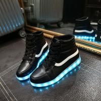 Wholesale High Top Mens Light Up Shoes , High Cut Boots Vans Kids Led Light Up Shoes from china suppliers