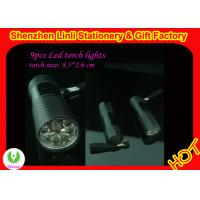 Wholesale competitive price aluminium alloy oem logo 9pcs High power led flashlight torch  from china suppliers