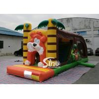 Buy cheap Cartoon kids Bouncy Castle Inflatable jump house with slide For kids Inflatable from wholesalers