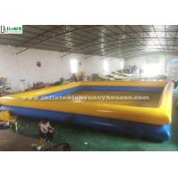 Wholesale 1 Meter High Yellow N Blue Inflatable Water Pools Double Deck For Swimming Or Aquatic Pastime from china suppliers
