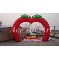 Wholesale custom giant apple shape inflatable arch with free air blower for event party decoration from china suppliers