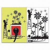 Wholesale Switch Socket Decoration, Removable and Easy-to-use, Measures 15 x 24cm from china suppliers