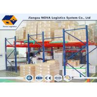 Wholesale Q235 Steel Push Back Racking Powder Coating , Frozen Warehouse Pallet Storage Racks from china suppliers