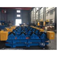 40T Vessel Pipe Welding Rotator With Rubber Roller , Pipe Rollers for Welding High Speed