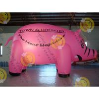 Wholesale 6m Cute Custom Shaped Balloons , 0.18mm Pink PVC Inflatable HeliumBalloon from china suppliers