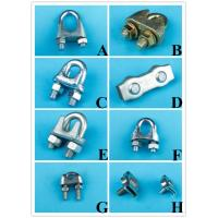 China Galvanized Din741Malleable Steel Wire Rope Clip Cable Clamps on sale