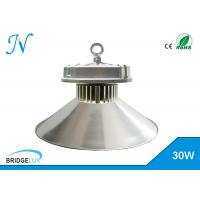 Silver 30W Dimmable Led High Bay Lights With Bridgelux Chip / Aluminum Housing