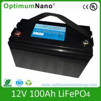 Wholesale High Capacity LiFePO4 12V 100Ah Rechargeable Battery for Solar System from china suppliers