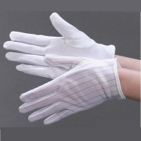 Wholesale Non Slip Striped Dotted 0.1s Static Decay ESD Gloves from china suppliers