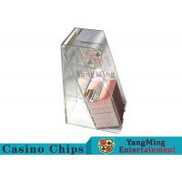 China Casino Dedicated Poker Discard Holder , Playing Card Tray Holder For 2 Decks for sale