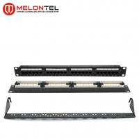 China 19 Inch Rj45 Patch Panel 24 Port 1U , Cat6 Type 110 IDC Patch Panel MT4012 on sale