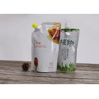 China Stand Up Liquid Pouch Bags With Dia 22mm Spout For Wine Liquor Package for sale