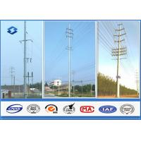 35KV Single / Double Circuits Hot Dip Galvanized Steel Pole For Electric Transmission