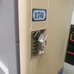 Vandal Resistant ABS Plastic Locker 4 Tier Beige Door Gray Body For Factory