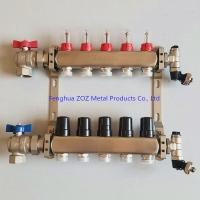 China Underfloor heating stainless Steel manifolds with flow meters for sale