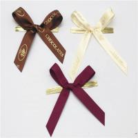 China Colored Small Ribbon Bows 100% Polyester Material Handmade Artworks for sale