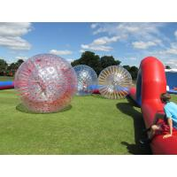 Wholesale Grass Red Cord Inflatable Zorb Ball Inflatable Human Hamster Ball 2.8m x 1.8m Dia from china suppliers