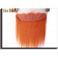 China Soft Orange Human Hair Lace Closure 4 * 13 Inch No Chemical Full Cuticle Aligned on sale