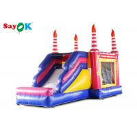 Quality Kids Inflatable Bouncers With Slide Birthday Bounce House For Entertainment for sale
