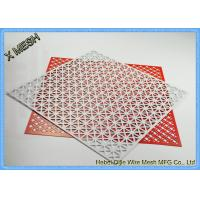 Quality Architectural Facades Honeycomb Perforated Sheet Metal Stainless Steel Material for sale