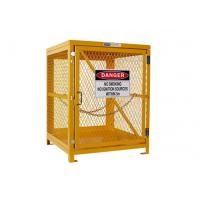 Wholesale Yellow Gas Cylinder Storage Cages Used For Gas Tank And Cylinder Locker from china suppliers